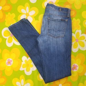 7FAM Roxanne Skinny Jeans 7 For All Mankind 28